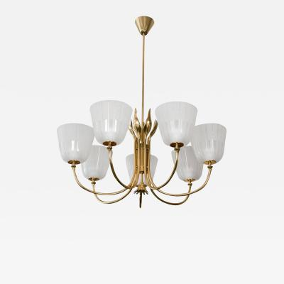 Brass Swedish Chandelier by Bor ns Bor s
