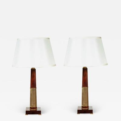Brass Wrapped 1970s Lamps