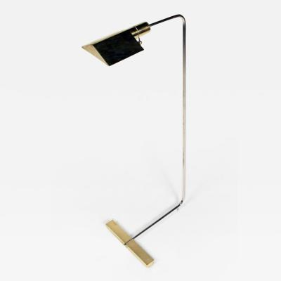 Brass and Chrome Adjustable Reading Lamp by Cedric Hartman