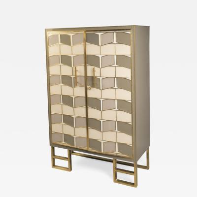 Brass and Glass Cabinet France 2017