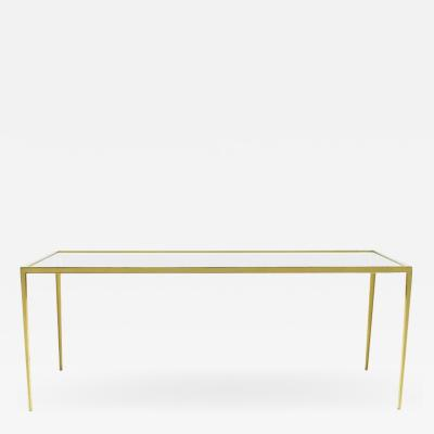 Brass and Glass Coffee Table by Vereinigte Werkst tten Germany 1960s
