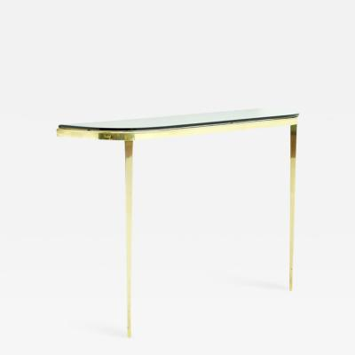 Brass and Glass Wall Console 1970s