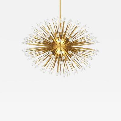 Brass and Murano Suspension Lamp