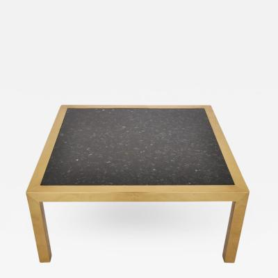 Brass and Stone Coffee Table circa 1970