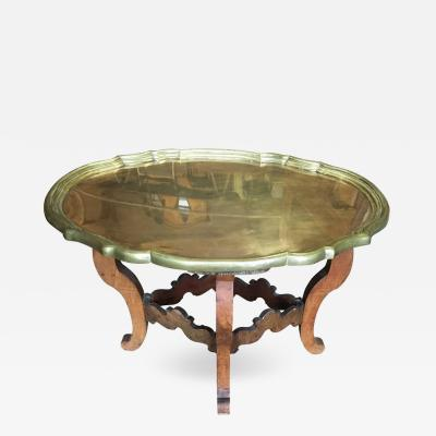 Brass and Wood Tray Table circa 1930