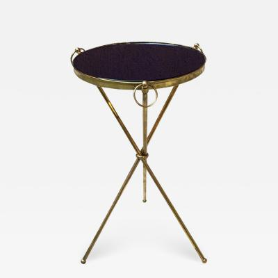 Brass and blue glass coffee table 1950s