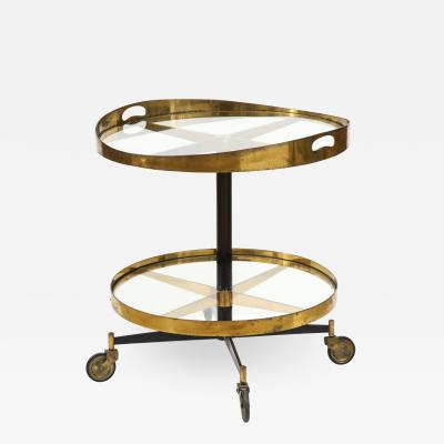 Brass and glass Carello table