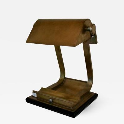Brass desk lamp prototype created at the Ecole Boulle 1930s
