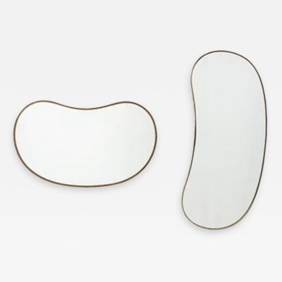 Brass framed wall mounted mirrors