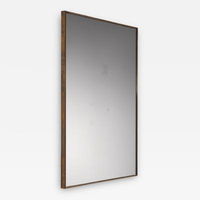 Brass rectangular wall mirror