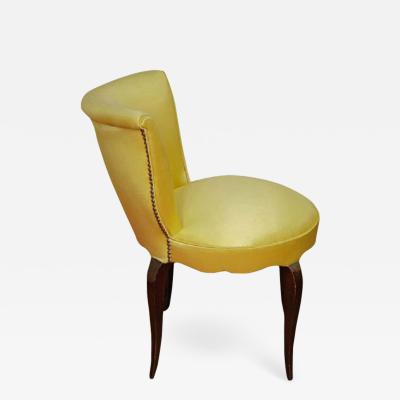 Brass studded upholstered seat