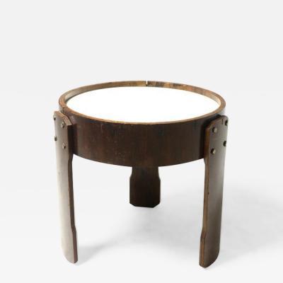 Brazilian Mid Century Modern Hardwood and Formica Side Table Brazil 1960s