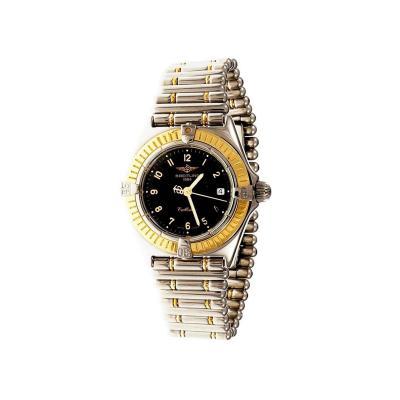 Breitling Breitling Ladies Callistino Yellow Gold Stainless Steel Quartz Wristwatch