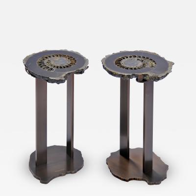 Brenda Houston Ammonite Side Tables Tavalino Ammonita