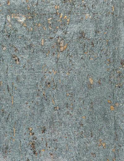 Brenda Houston Blue Metallic Cork Wallcovering