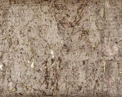 Brenda Houston Brushed Gold on Gold Cork Wallcovering