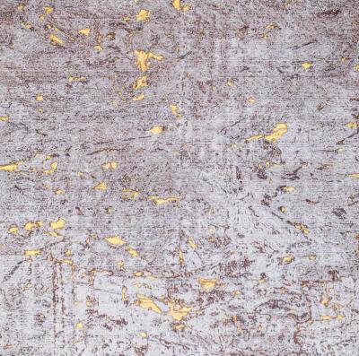 Brenda Houston Rose on Gold Cork Wallcovering