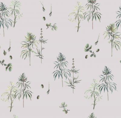 Brett Design Botanical Weed Majestic Mauve