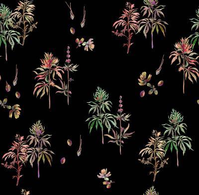 Brett Design Botanical Weed Psychadelic