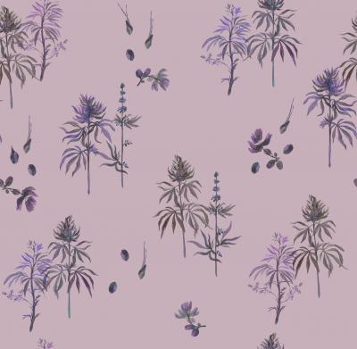 Brett Design Botanical Weed Purp