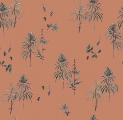 Brett Design Botanical Weed Red Earth