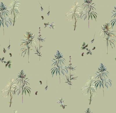 Brett Design Botanical Weed Vert De Terre