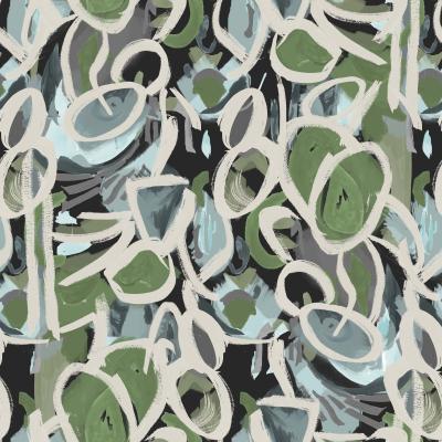 Brett Design Krasner Oval Olive Gray Black