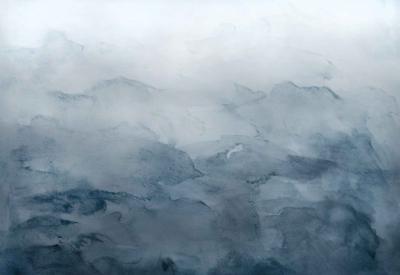 Brett Design Washed Mountains B Navy