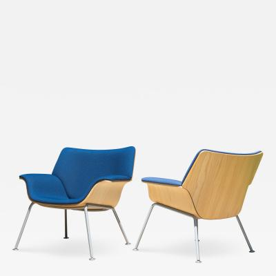 Brian Kane Swoop Plywood Lounge Chairs by Brian Kane for Herman Miller Pair