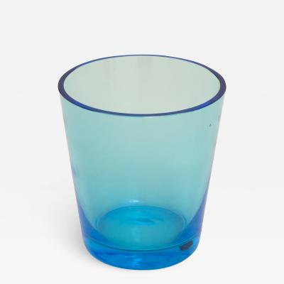 Bright blue vase
