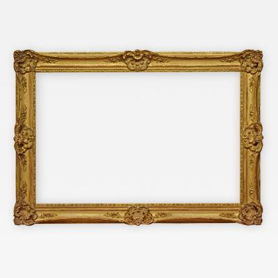 British 1890 Louis XV Gold Leaf Picture Frame 27x42