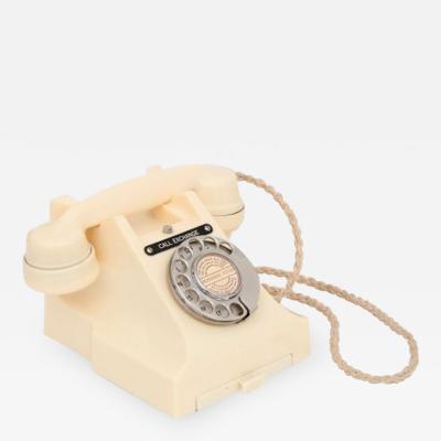 British Art Deco Cream Bakelite Telephone 300 series
