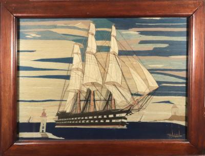 British Sailors Woolwork Woolie of a Ryal Navy Battleship