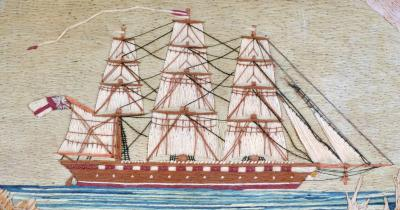 British Sailors Woolwork with House and Bridge
