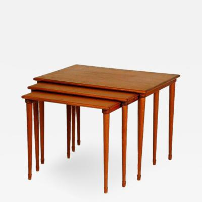 Brode Blindheim Set of Slender Scandinavian Nesting Tables by Brode Blindheim