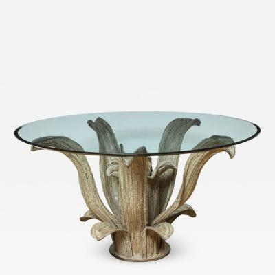 Bronze Agave Plant Sculpture Center Table