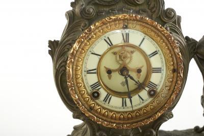 Bronze Ansonia The Composer Figural Mantel Clock