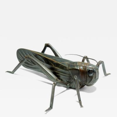 Bronze Articulated Myochin Box in Grasshopper Form