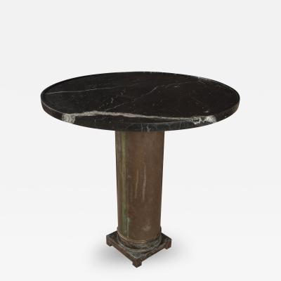Bronze Base and Nero Marble Top Table