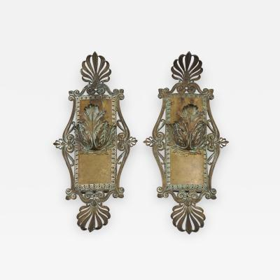 Bronze Beaux Arts Sconces c 1910