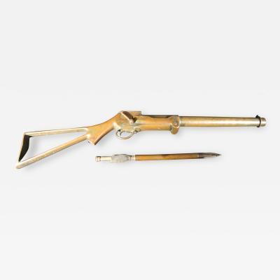 Bronze Breech Loading Bronze Whaling Gun by Ebenezer Pierce