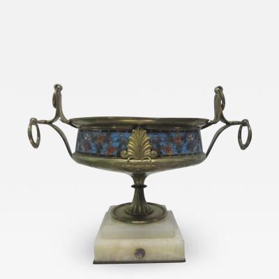 Bronze Cloisonn Centerpiece Bowl