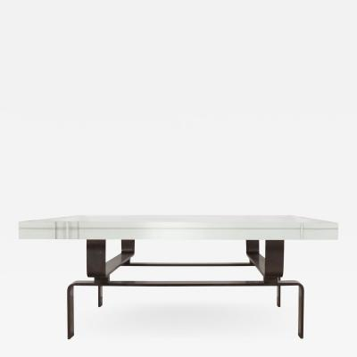 Bronze Cocktail Table with Lucite Top by Appel Modern