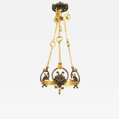 Bronze English Regency Pendant Chandelier