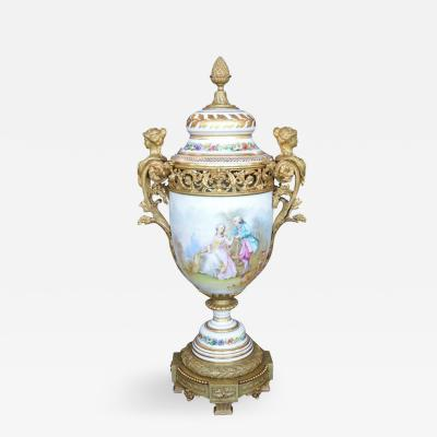 Bronze Figural Mounted Sevres