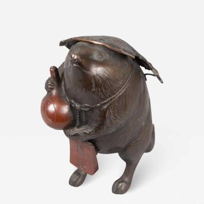 Bronze Figure of a Badger