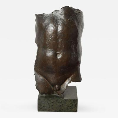 Bronze Figure of a Male Torso