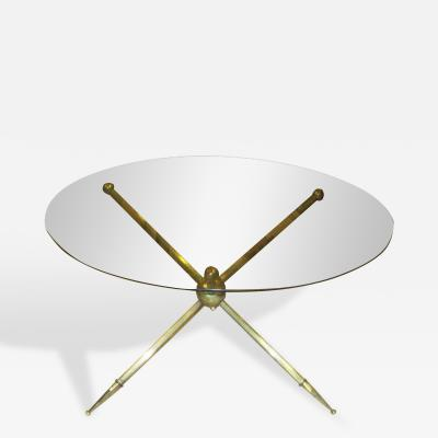 Bronze Mid Century Coffee Table with Smoked Glass Top