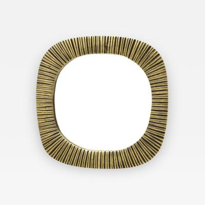 Bronze Mirror Ribbed France 1970s