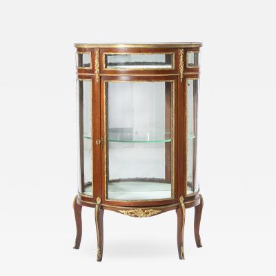 Bronze Mounted Louis XV Demilune Shape Case Cabinet